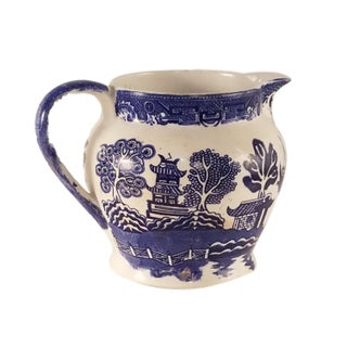 Allertons Blue and White Willow Pitcher