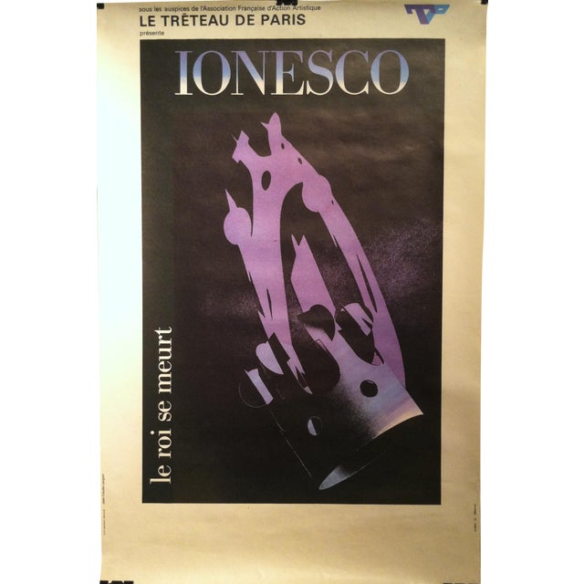 """Image of Jean-Claude Lenglart """"Ionesco"""" French Lithograph"""