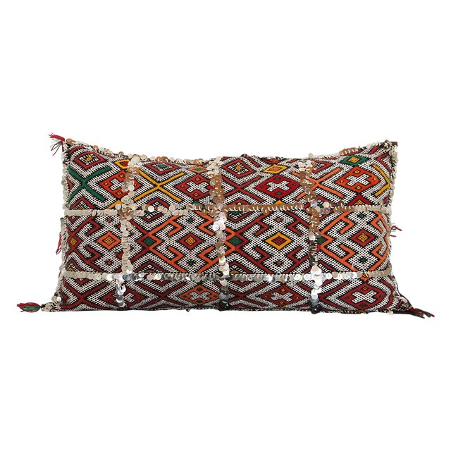 Handcrafted Moroccan Kilim Pillow I - Image 1 of 7