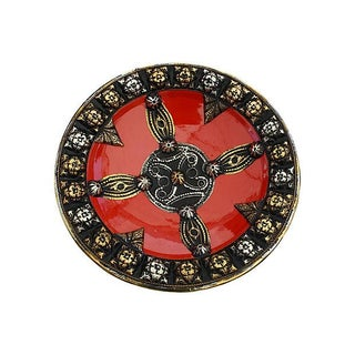 Brass & Silver Inlay Wall Plate