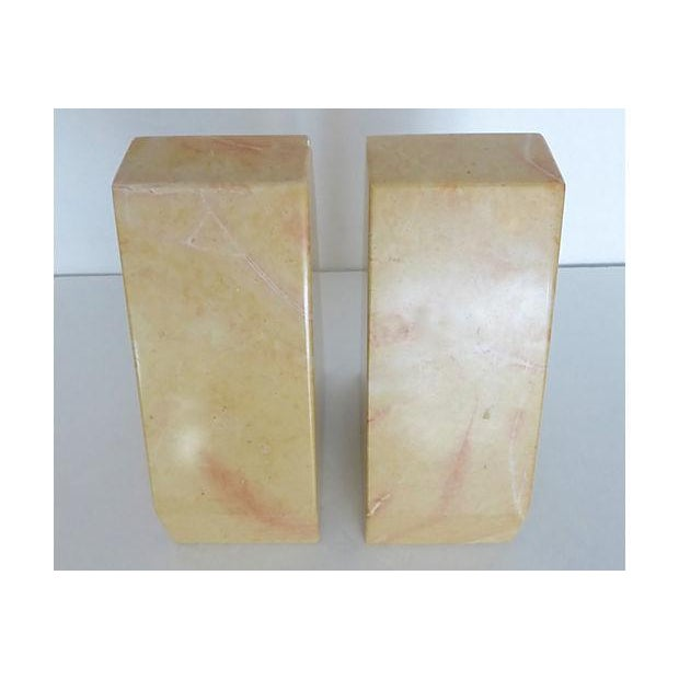 Image of Beige Marble Architectural Bookends