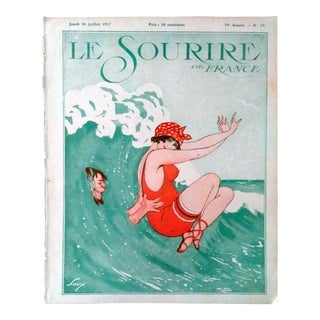"Savy 1917 Le Sourire ""Bathing Beauty"" Cover Print"