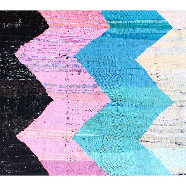 Kilim Boucherouite Rug - 4' x 6' - Image 2 of 6