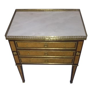 French Ninon Table With Marble Top