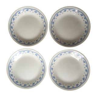Blue & White Corning Plates - Set of 4