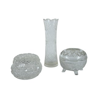 French Cut Glass Vanity Set