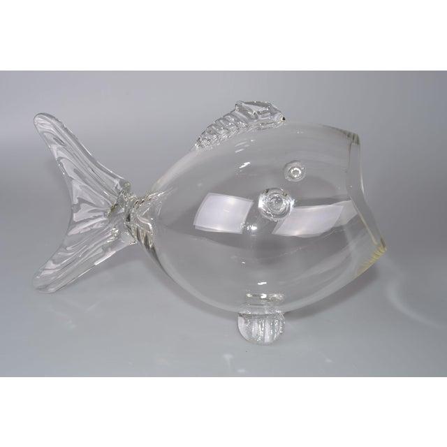 Blenko Handblown Glass Fish Candy Bowl - Image 3 of 9