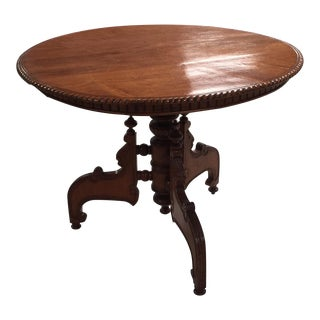 19th Century Round Walnut Table