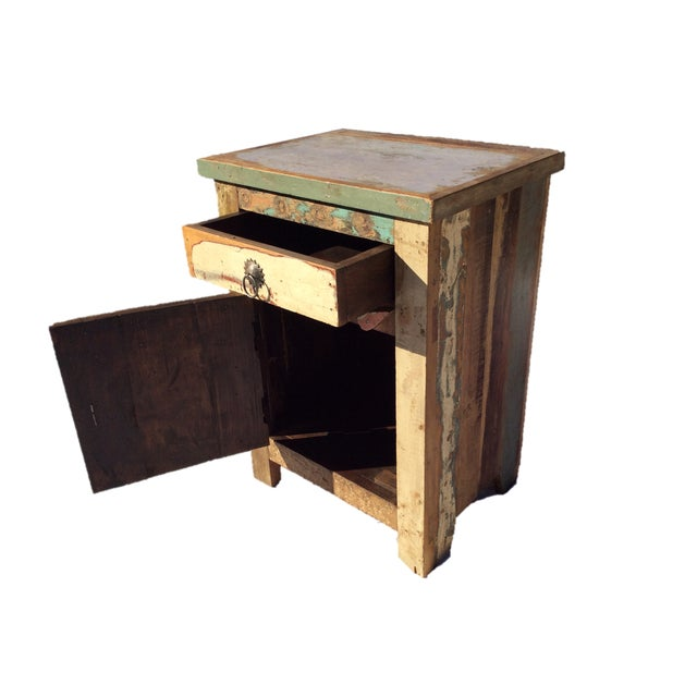 Reclaimed Wood Side Table/Small Cabinet - Image 3 of 5