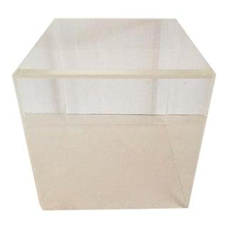 Cubic Lucite Pedestal