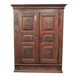 A PAINTED EUROPEAN ARMOIRE