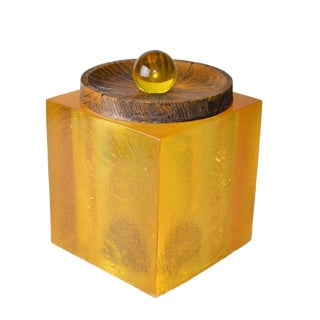Solid Acrylic Cork & Wood Ice Bucket