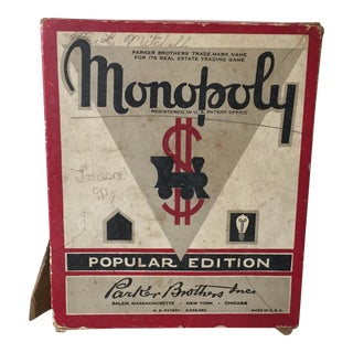 Vintage Original Monopoly Game