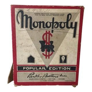 Vintage Original Monopoly Game