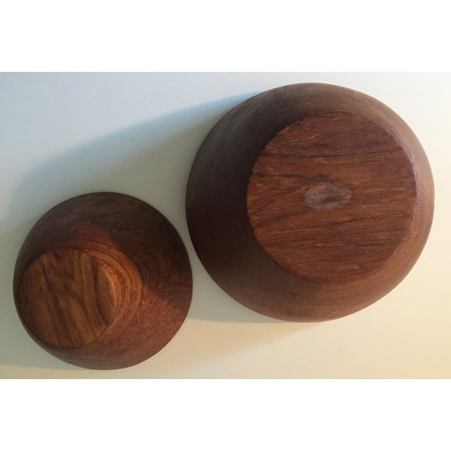 Image of Mid-Century Carved Wooden Bowls - 2
