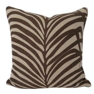Zebra Palm Jute by Schumacher Pillow
