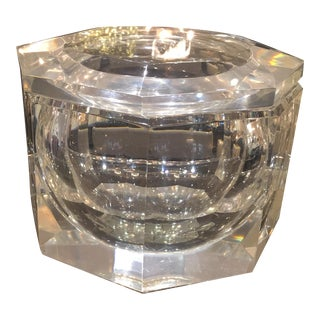 Italian Lucite Decorative Box or Ice Bucket in the Manner of Alessandro Albrizzi.