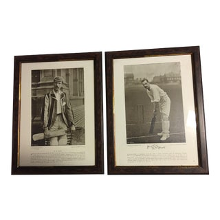 R.W. Rice & G.J.V. Weigall English Cricket Prints - A Pair