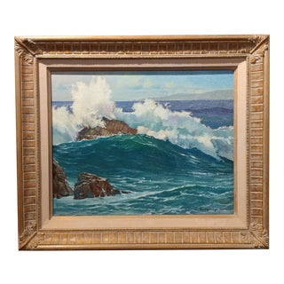 Paul Youngman - Pacific Grove - California Seascape - original Oil painting oil painting on board -signed