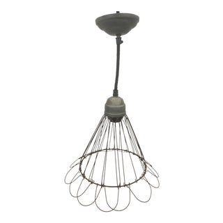 Wire Pendant Light With Adjustable Bottom Edge