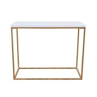 White and Gold Console Table