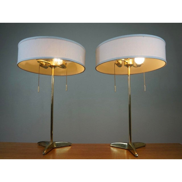 Gerald Thurston Brass Table Lamps- A Pair - Image 3 of 6