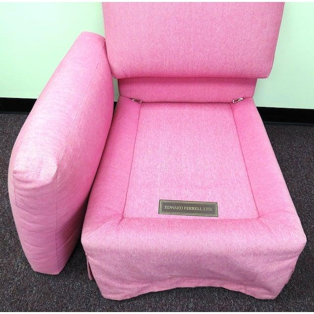 Edward Ferrill LTD Pink Armless Chair - Image 4 of 5