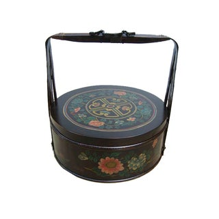 Chinese Bamboo Round Flower Wedding Basket