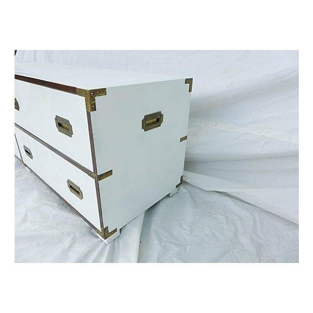 Baker Campaign Low-Boy Dresser - Image 6 of 8