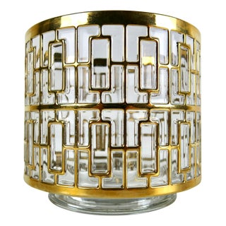 Imperial Glass 24k Gold Shoji Ice Bucket