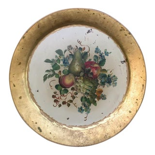 Large Round Hand Painted Fruit Tray