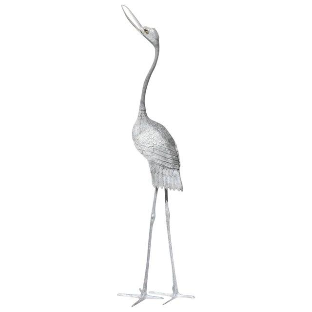 1950s vintage art deco crane sculpture chairish. Black Bedroom Furniture Sets. Home Design Ideas