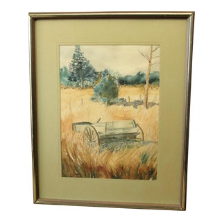 Impressionist Landscape Watercolor Painting