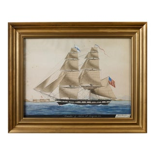 "Ship ""Leander"" of Salem at Smyrna Painting, 1831"