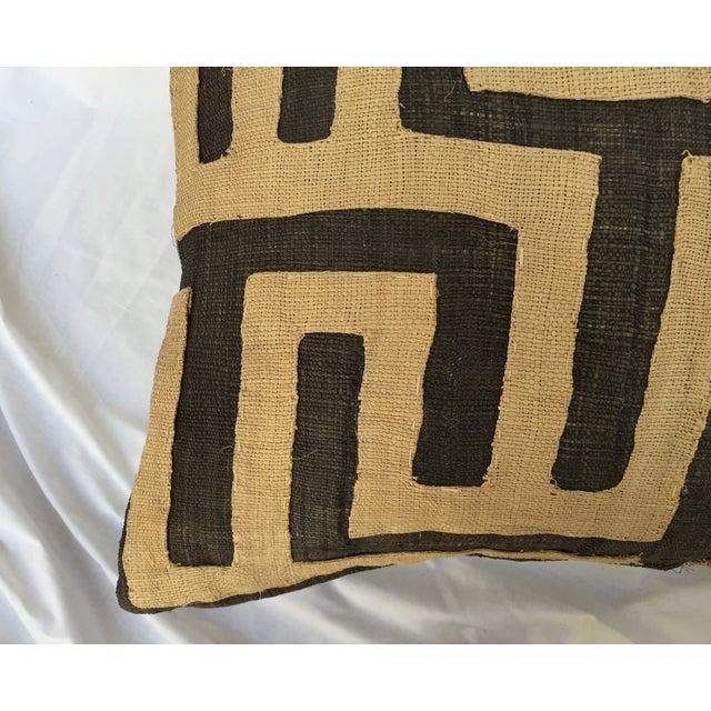 Image of Vintage African Kuba Maze Pillows - A Pair