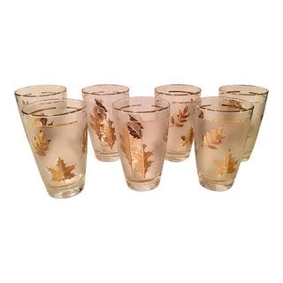 Libbey Gold Leaf Glasses - Set of 7
