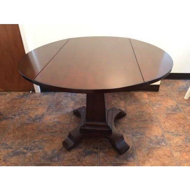 Solid-Wood Dining Table And Side Table - Image 2 of 5