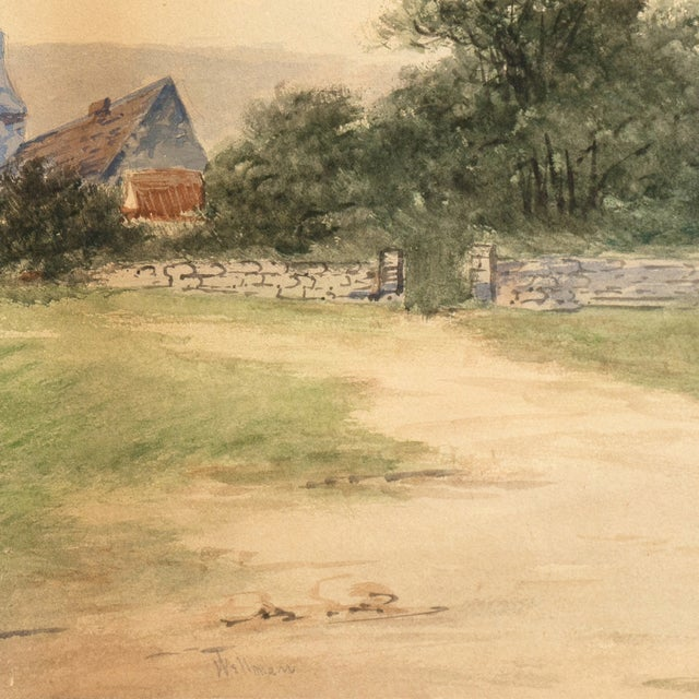 Lakeside Village Watercolor, Circa 1900 - Image 5 of 6