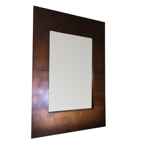 Large Bronzed Wooden Mirror