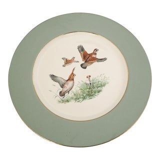 Eliot Fine China Flying Pheasants Wall Plate