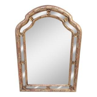 Hollywood Regency Silver Gilt Mirror