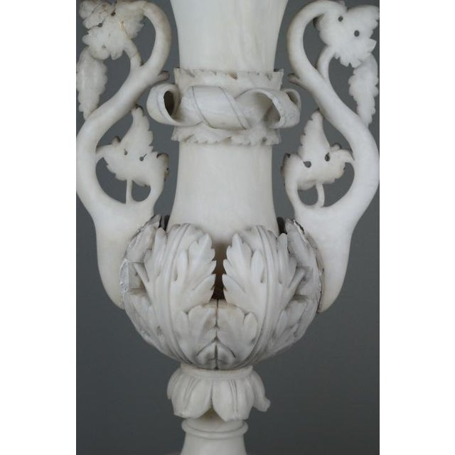 Early 20th C Hand Carved Italian Alabaster Vase - Image 4 of 10