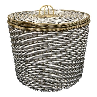 Woven Aluminum and Brass Basket