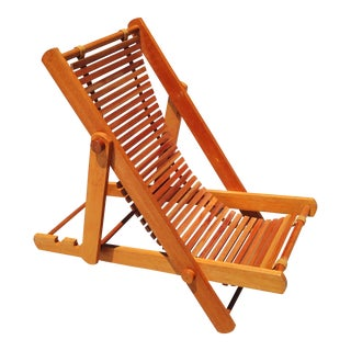 Mid-Century Modern Japanese Folding Lounge Chair