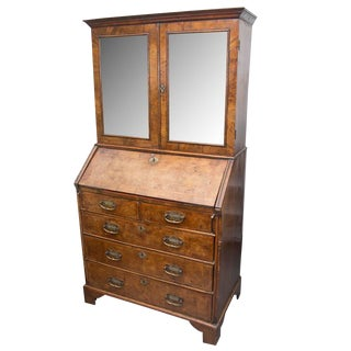 18th Century English Walnut Cottage Secretary