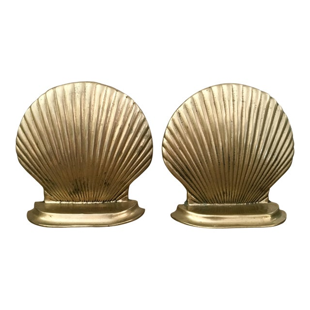 Mid-Century Shell Bookends - a Pair - Image 1 of 4