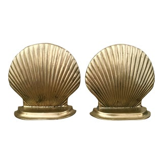 Mid-Century Shell Bookends - a Pair