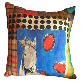 Large Colorful Horse Pillow