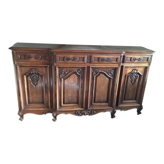 Antique French Henry Carved Sideboard