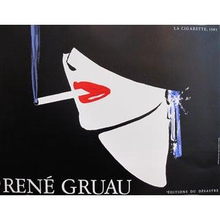 1983 Vintage French Rene Gruau Poster, La Cigarette